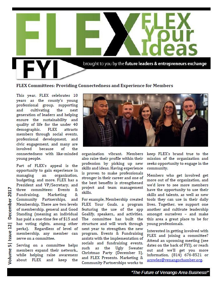 FLEX FYI Newsletter December 2017 | Venango Area Chamber of Commerce