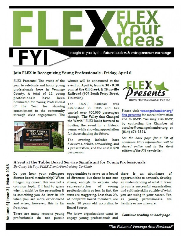 FLEX FYI Newsletter March 2018 | Venango Area Chamber of Commerce
