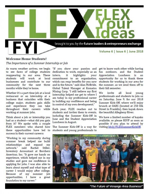 FLEX FYI Newsletter May 2018 | Venango Area Chamber of Commerce