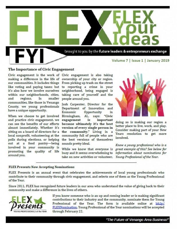 FLEX FYI Newsletter January 2019   Venango Area Chamber of Commerce