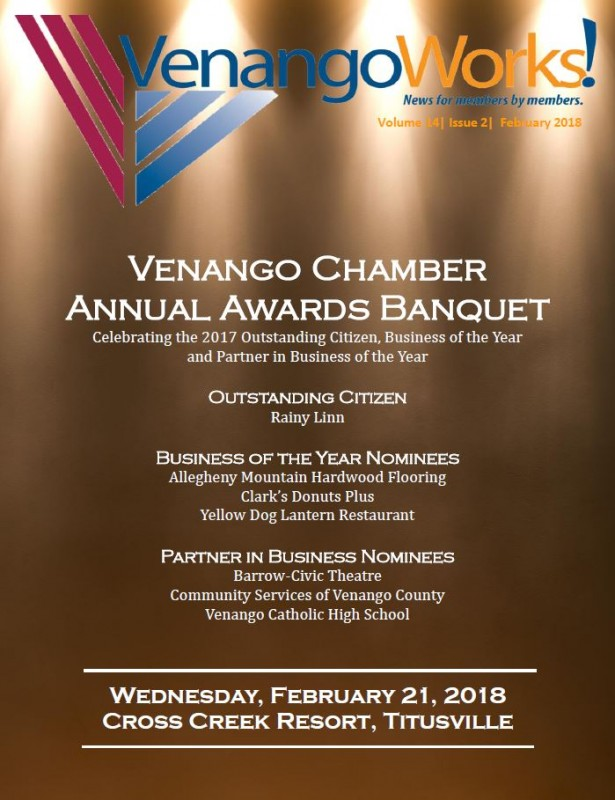 VenangoWorks! Newsletter February 2018 | Venango Area Chamber of Commerce