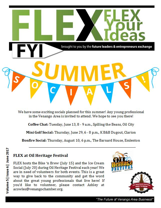FLEX FYI June 2017 | Venango Area Chamber of Commerce