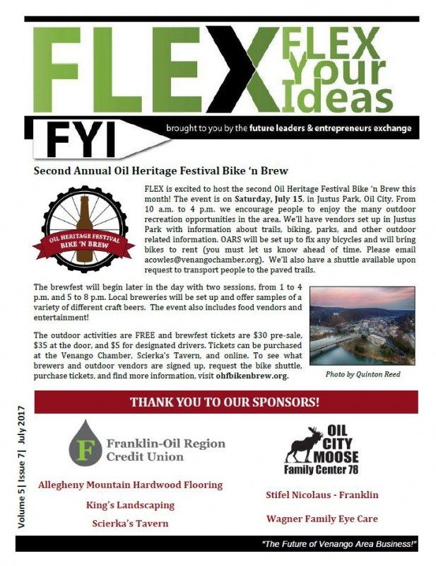 FLEX FYI Newsletter July 2017 | Venango Area Chamber of Commerce