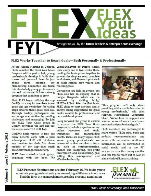 FLEX FYI Newsletter February 2018 | Venango Area Chamber of Commerce