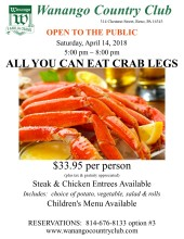All U Can Eat Crab Legs ~ flyer