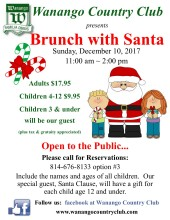 Brunch with Santa ~ flyer