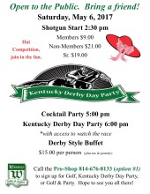 Kentucky Derby Day flyer