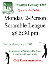 Monday 2-Person Scramble