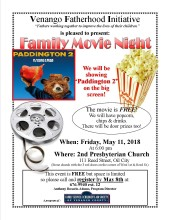Movie Night Paddington May 2018