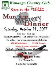 Murder Myster Dinner flyer