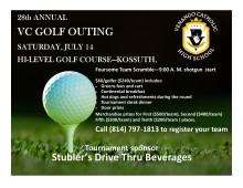 VC Golf  2018 flyer