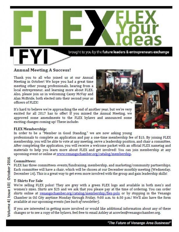 FLEX FYI November 2016 | Venango Area Chamber of Commerce