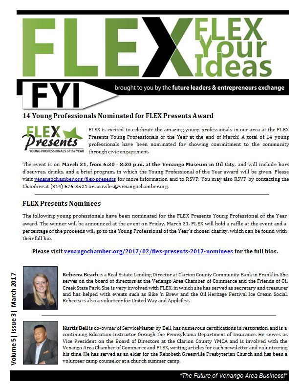 FLEX FYI March 2017 | Venango Chamber