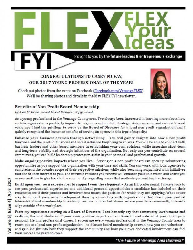 FLEX FYI April 2017 | Venango Chamber