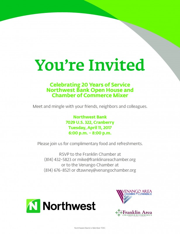 Northwest Bank Open House & Chamber Mixer