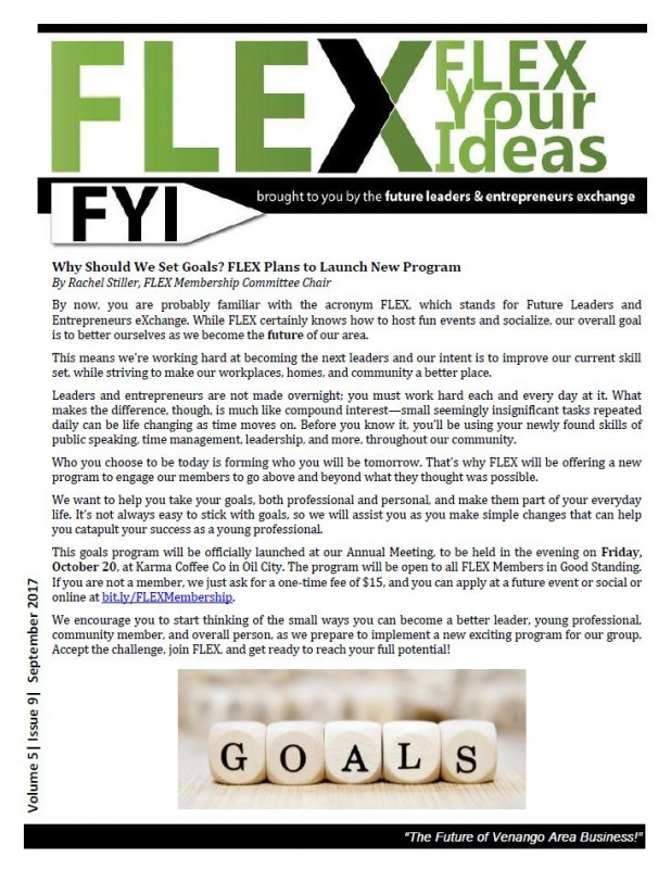 FLEX FYI Newsletter September 2017 | Venango Area Chamber of Commerce