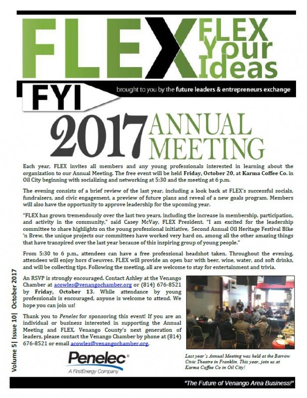 FLEX FYI October 2017 | Venango Area Chamber of Commerce