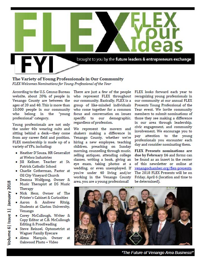 FLEX FYI Newsletter January 2018 | Venango Area Chamber of Commerce