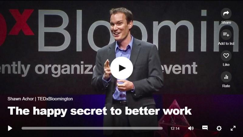 TED Talk Secret to Happy Work